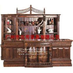 实木酒吧台图片