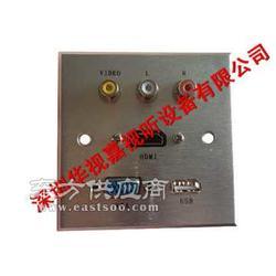 多媒体铝面板插座 多媒体高档墙面插座图片