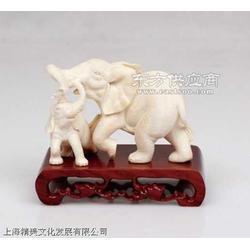 猛犸牙雕 象戏 摆件 栩栩如生 精美雕刻图片