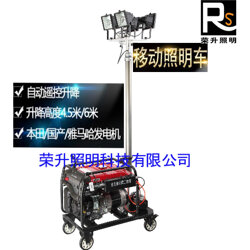 M2001遙控升降工作燈 全方位自動升降工作燈圖片