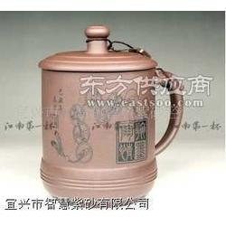 紫砂壶高档系列 扁三足石瓢图片