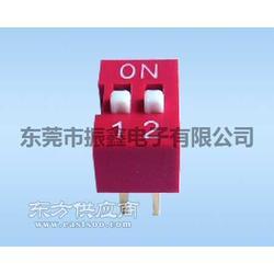 2位红色拨码开关2.54平拨拨码开关VDG/S-02H-R图片