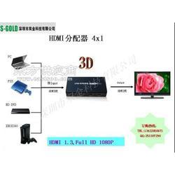 厂家供应1.4版HDMI视频切换器4切1图片