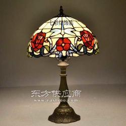 蒂凡尼台灯彩色玻璃台灯图片