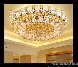 800MM小树叶水晶灯酒店金色水晶吸顶灯 现代水晶灯