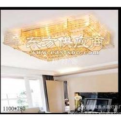 豪华金色黄水晶灯1100780MM水晶吸顶灯客厅卧室图片