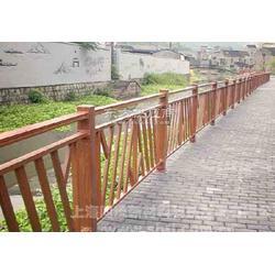 金属铝合金河滨木纹护栏图片