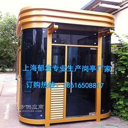 厂家定做生产高档写字楼岗亭钢化玻璃焊接钢结构保安岗亭图片