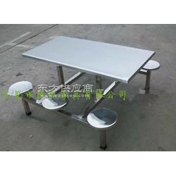 厂家推荐6人位条形餐桌椅-学生食堂不锈钢餐桌椅图片