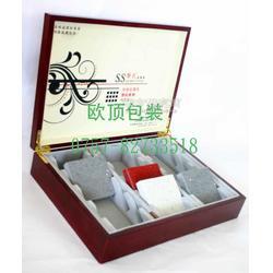 订做石材样品盒石材油漆木盒石材样品箱手提箱图片