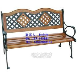 户外公园椅石头椅子钢木椅子户外休闲椅铸铁脚椅子图片