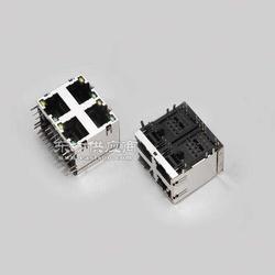 RJ45屏蔽90度2X2带灯插座图片