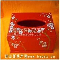 平遥手工艺品-平遥推光漆器纸巾盒图片