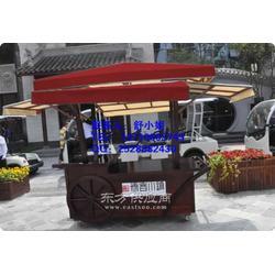 木质售货车街道实木售货车景区小吃售货车图片