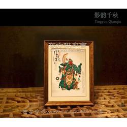 關公皮影雕刻工藝品爐火純青民間皮影禮盒圖片