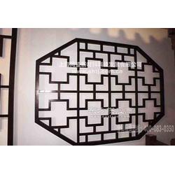 木纹铝合金古典花格图片