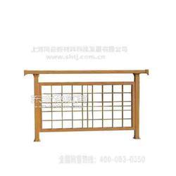 企业围墙栏杆 金属仿木护栏 铝合金围墙护栏图片