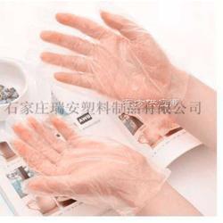 PE材质一次性薄膜手套图片