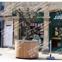 商業街實木花盆圖片