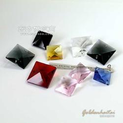 水晶四方珠水晶珠帘配件图片