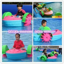 质水上游艺设施 儿童水上手摇船厂家 水上玩具船图片