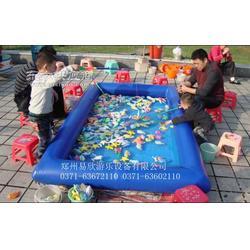 易欣儿童大型充气沙池图儿童钓鱼玩具水池图片