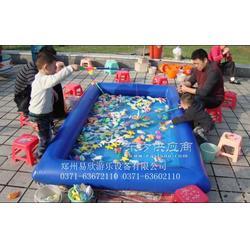充气钓鱼池充气水池儿童钓鱼玩具水池图片
