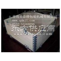 美嘉隆生产可拆式胶合板钢带箱折叠连接式胶合板箱图片