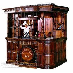 欧式实木仿古酒吧台图片