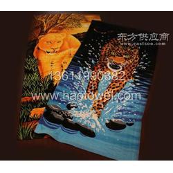 涤棉活性印花沙滩巾浴巾图片