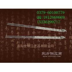 纯银筷子纯银勺子纯银餐具图片