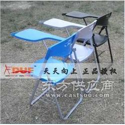 天天向上超加固型带写字板折叠椅培训椅免安装图片