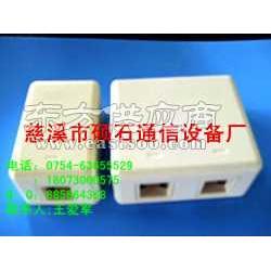 硕石供应SC网络光纤面板 ST适配器2口光纤面板图片
