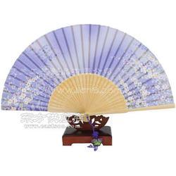 真丝扇厂家制作 真丝扇舞蹈扇功夫扇棉布扇图片