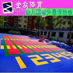 幼儿园拼装地板 悬浮式户外运动地板图片