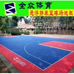 悬浮式运动地板 篮球场专用PP拼装地板图片