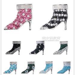 服饰鞋材配件 软陶镶钻合金高跟鞋 DIY按扣 Noosa风/chunks扣子图片