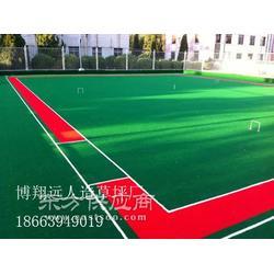 热卖的、足球场人工草坪施工图片