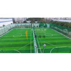 厂家供应人工草坪足球场施工图片
