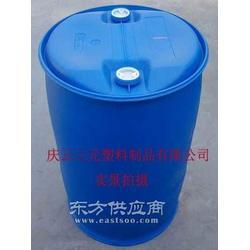 100L化工塑料桶100L包箍塑料桶100L双闭口塑料桶图片