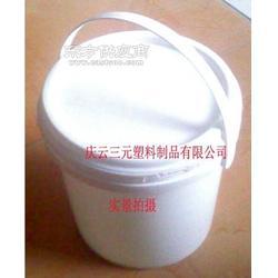 3L大口圆形塑料桶3L翻边塑料桶图片