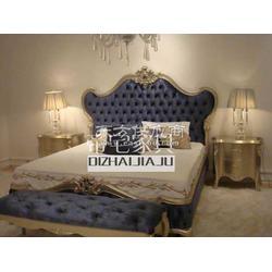 后现代家具 新古典双人床 简欧布艺实木床 家具定制图片