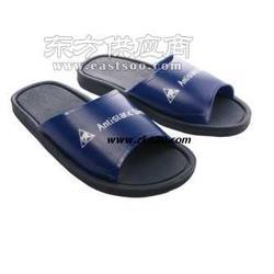 静电PVC胶拖鞋防静电蓝色拖鞋图片