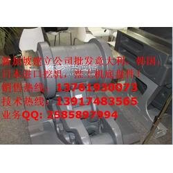 小松挖掘机底盘件支重轮引导轮驱动齿轮拖链轮图片