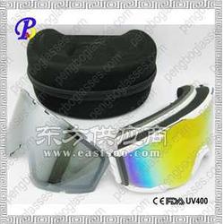 可换镜片滑雪眼镜 双层换框滑雪护目镜图片