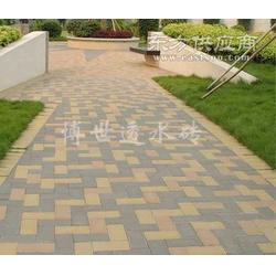 水泥砖透水砖彩砖步道石盲道砖面包砖图片