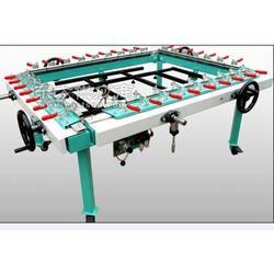 厂家生产网板拉网机绷网机单夹头图片