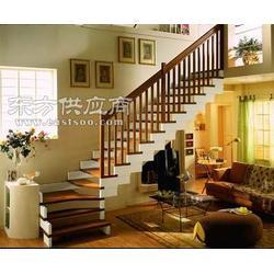 品聚楼梯 别墅简约风格楼梯 家用实木楼梯 罗曼系列图片