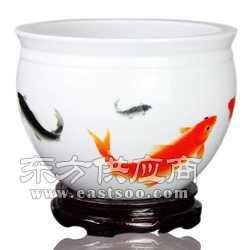 陶瓷小鱼缸工厂图片