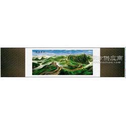 中华长城丝绸画 真丝织锦画图片